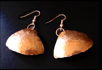 Basic copper earrings